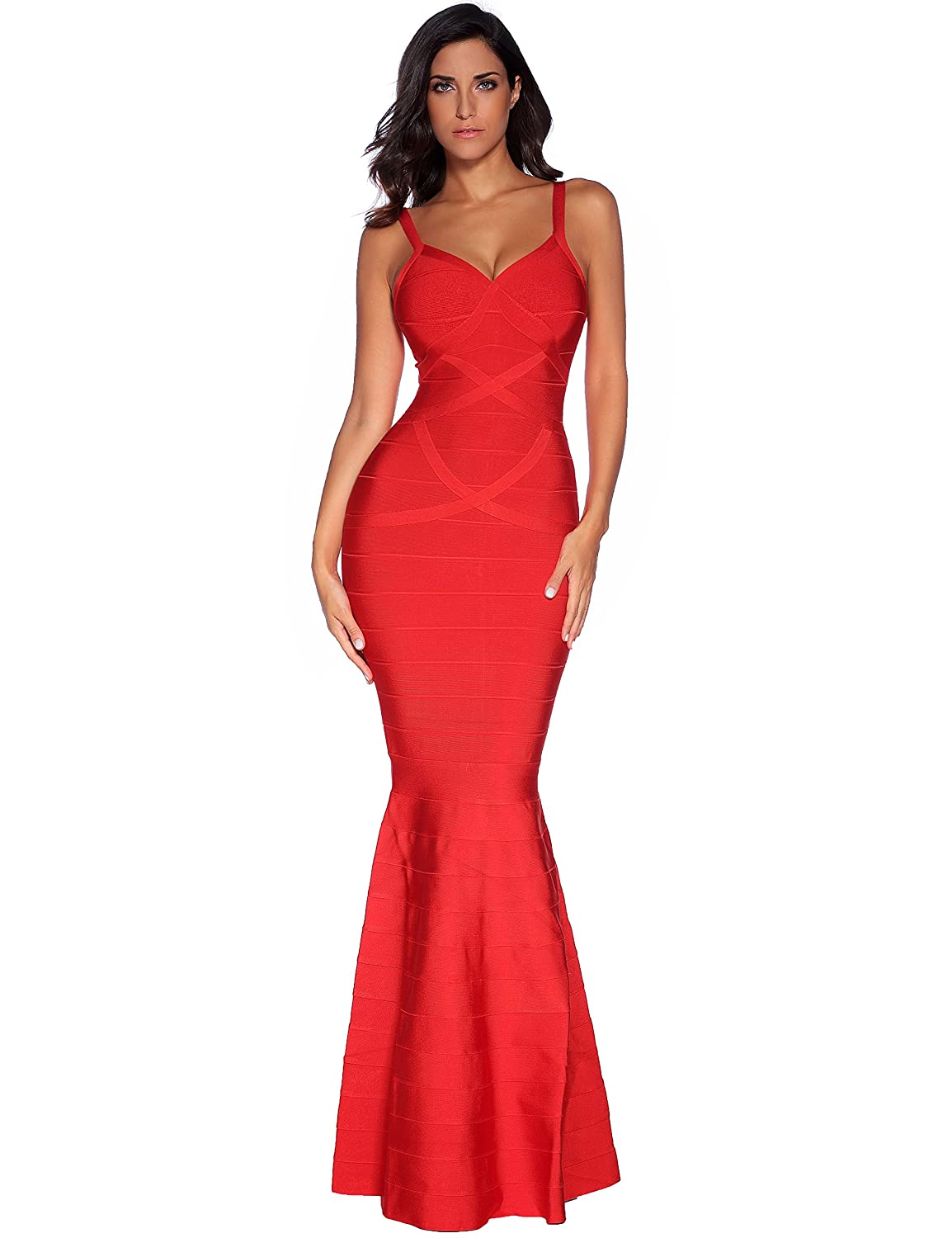 Meilun Women's Maxi Bandage Dress Fishtail Bodycon Formal Evening Dresses