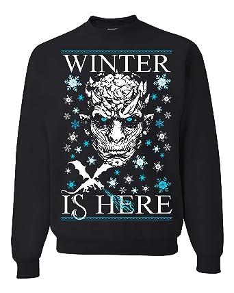 Amazon.com: Winter is Here Game of Thrones Ugly Christmas Sweater Unisex Sweatshirt: Clothing