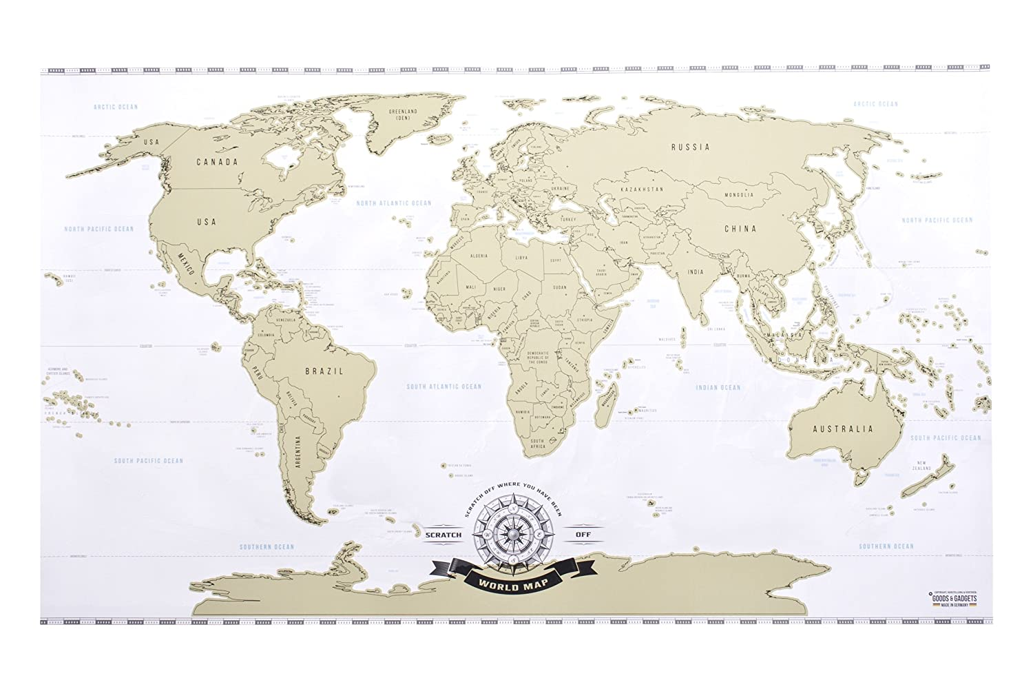 Amazon scratch off world map deluxe personalized travel map amazon scratch off world map deluxe personalized travel map poster xxl posters prints gumiabroncs Image collections