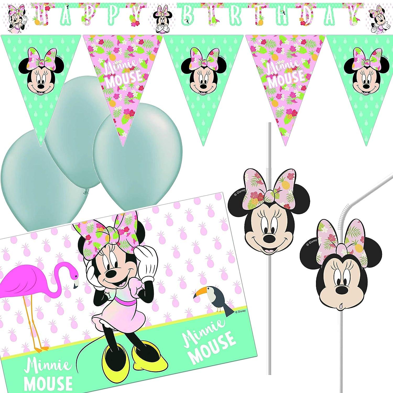 Nuevo 21 Piezas Juego de decoración * Minnie Mouse ...