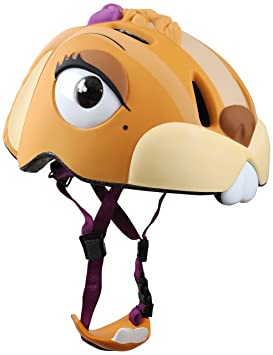 Abus Crazy Safety - Casco de ciclismo infantil para bicicleta de carretera, color amarillo