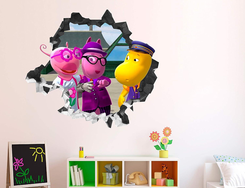 """Backyardigans Friends Wall Decal Sticker - Kids Wall Decal Decor - Art 3D Vinyl Wall Decal - GS40 (Small (Wide 22"""" x 16"""" Height))"""