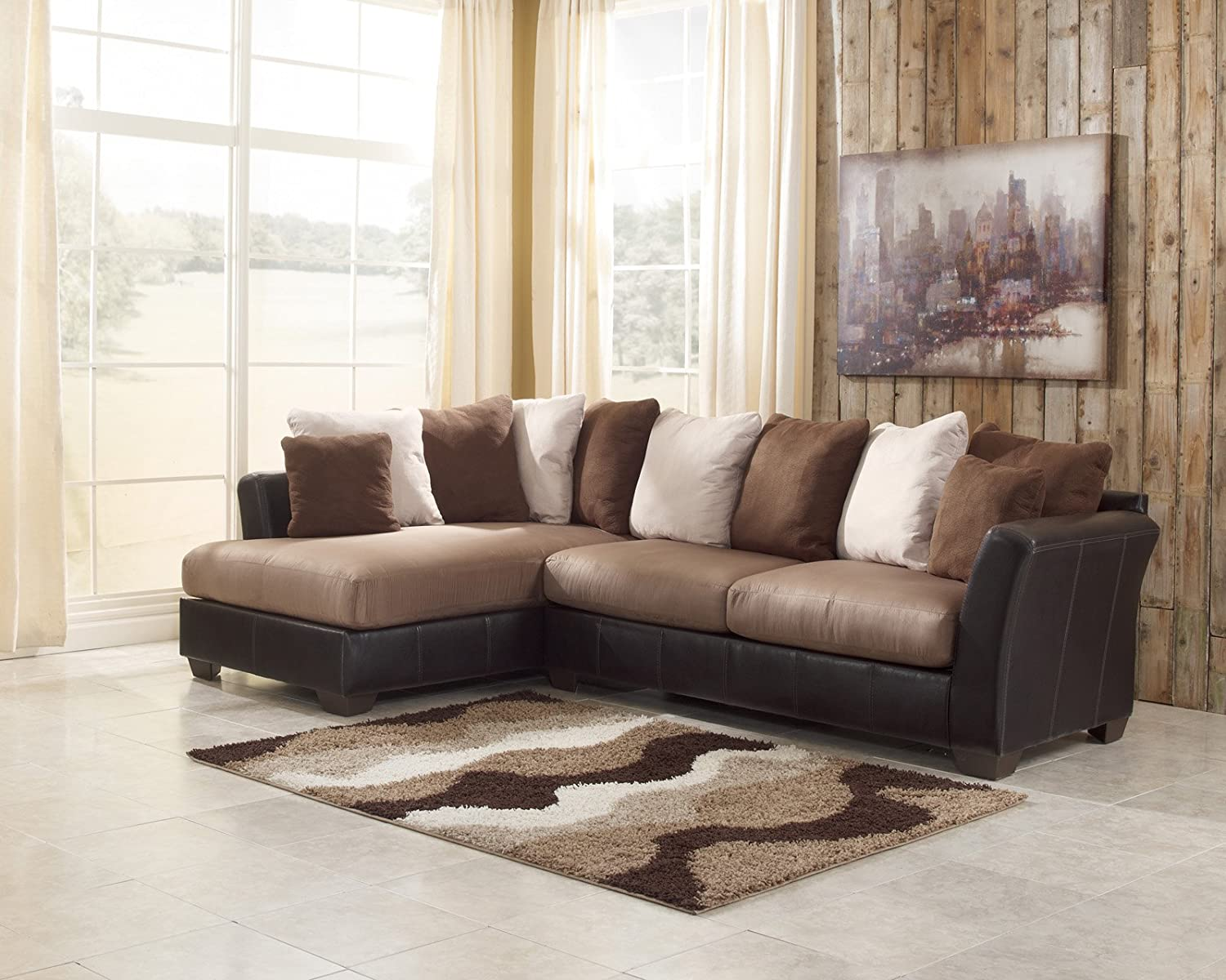 Ashley Furniture Masoli LAF Corner Chaise in Mocha