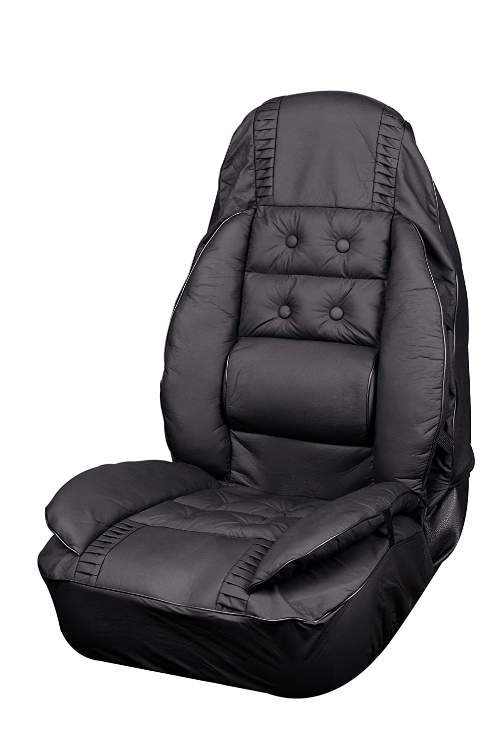 Pack of 1 Allison 66-6006BLK Black Euro Glove Universal Bucket Seat Cover