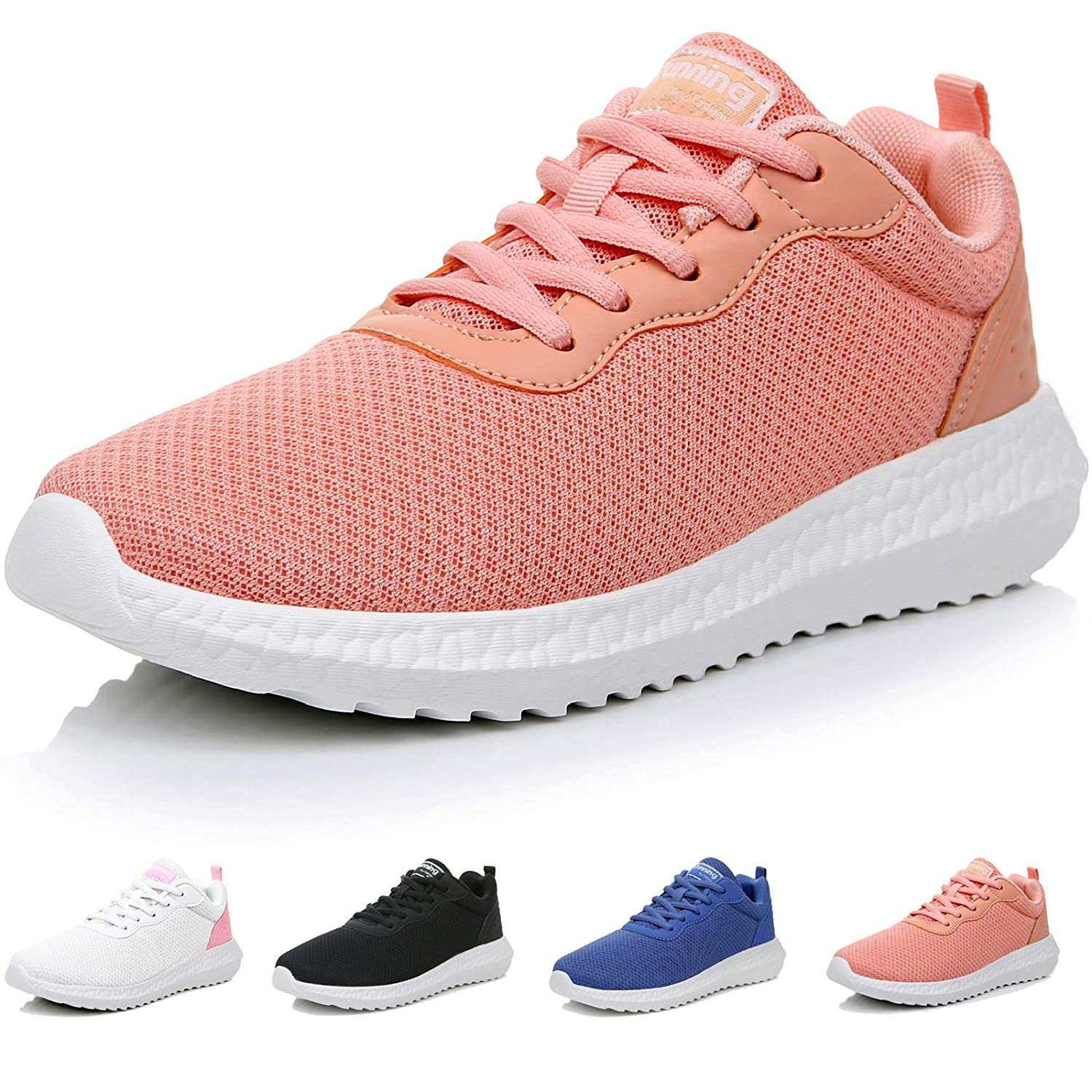 GOOBON Women s Running Tennis Shoes Non-Slip Breathable Walking Sneakers Sports Gym Casual Lightweight Fashion Athletic US5.5-10