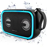 Bluetooth Speaker,ASIMOM IPX7 Waterproof Portable Speakers, Beat-Driven LED Light, Bluetooth 5.0,28W Loud Bass, Build-in Mic,