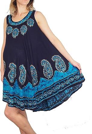 UK Women Maternity Pregnant Summer Sleeveless Flower Printed Loose Beach Dress