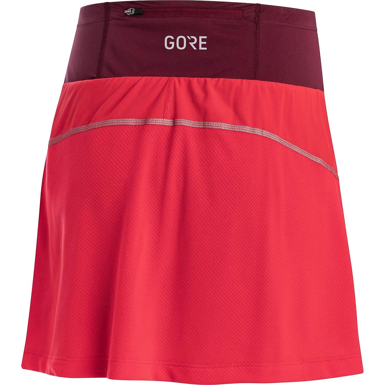 GORE WEAR Mujer R7 Falda pantalón, Rosa Hibisco/Rojo castaño, 36 ...
