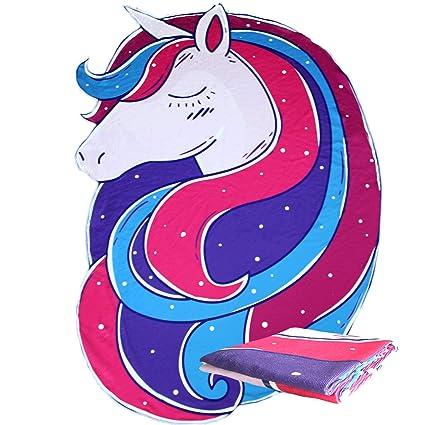 ACCESSU Toalla Toalla de Playa Unicornio Unicorn