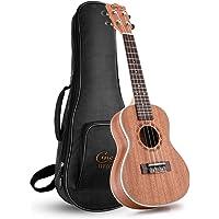 Hricane Concert Ukulele UKS-1 23inch Professional Ukulele Starter Small Hawaiian Guitar Bundle with Gig Bag