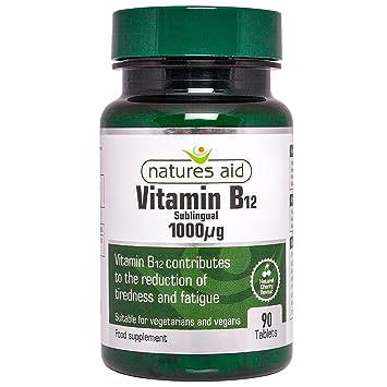 Amazon.com: Natures Aid – Tabletas de Vitamina B12 1000ug 90 ...