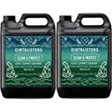 Dirtbusters Clean & Protect 4 in 1 Concentrate 2 X 5 Litres Professional Carpet & Upholstery extraction shampoo solution cleaner With Citrus Fresh Odour Neutraliser And Built In Stain Protection. Suitable For all Carpet Cleaning extraction Machines, safe for wool carpets and rugs, wont affect colours, neutralise pet odor