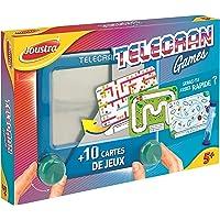 Joustra Magische leistenen bord TeleCRAN Games met 10 speelkaarten voor kinderen vanaf 5 jaar, reisformaat 14 x 14 cm…