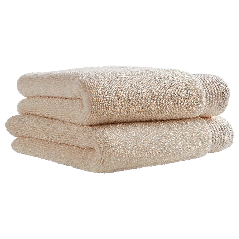 White Set of 2 Stone /& Beam Organic Cotton Hand Towel Set