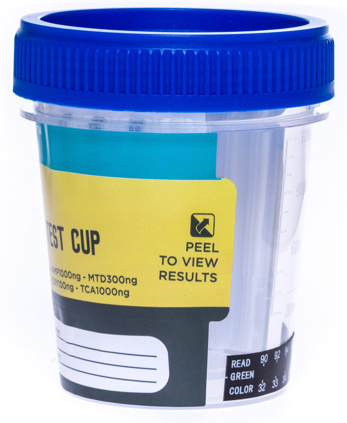 Care Check Sterile 12 Panel Multi Drug Screen Test Urine Sample Collection Cups, (AMP, BZO, BAR, COC, MET, MDMA, MTD, MOP, OXY, PCP, THC and TCA) 5 Pack Individually Wrapped Drug Test Cups by Care Check (Image #6)