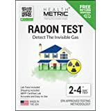 Radon Test Kit for Home - Shipping & Lab Fees Included | Easy to Use Charcoal Radon Gas Detector for Peace of Mind | 48-96h S