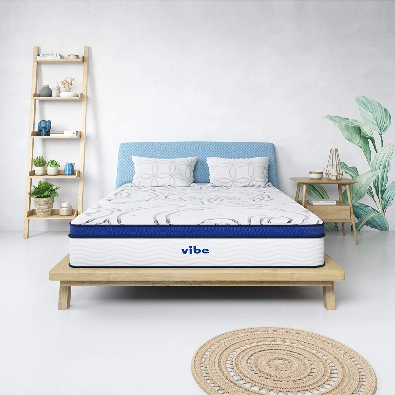 Vibe Quilted Gel Memory Foam and Innerspring Hybrid Pillow Top 12-Inch Mattress, Queen
