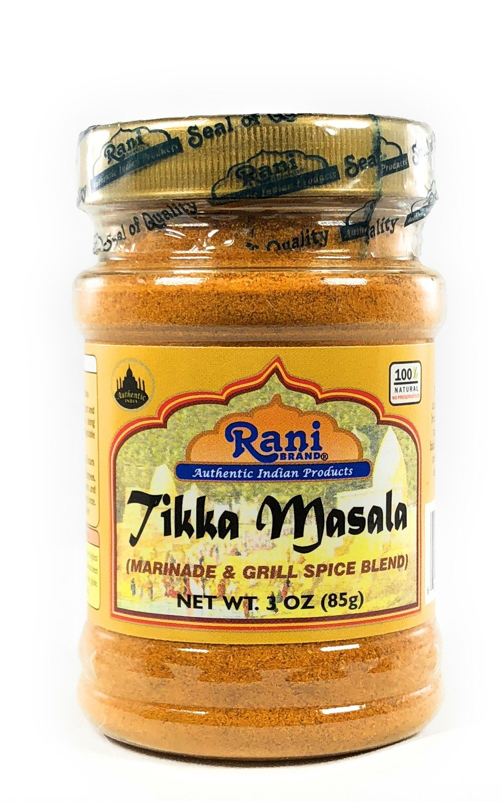 Rani Tikka Masala Indian 10-Spice Blend 3oz (85g) ~ Natural, Salt-Free | Vegan | No Colors | Gluten Free Ingredients | NON-GMO