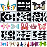 7 Sets Leather Earring Templates Bows Tie Making Template Earring Dies Template Cutting Stencil for Card Making DIY Bow…
