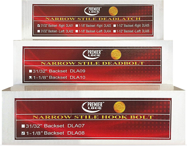 Grip Tight Tools 31//32-Inch Backset Narrow Stile Hook Bolt Aluminum Finish