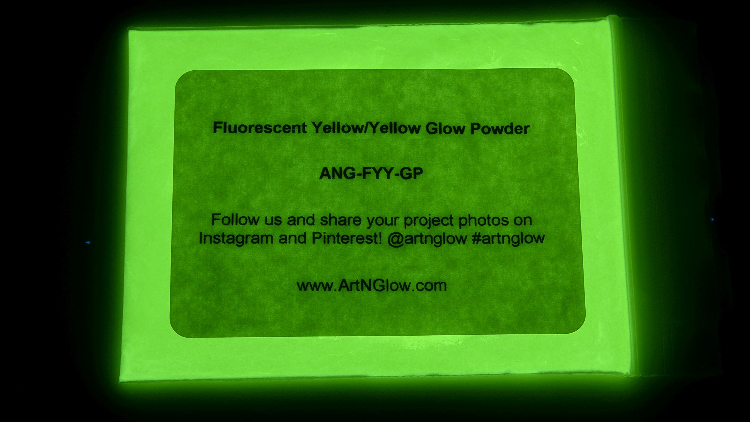 Glow in The Dark Pigment Powder - 12g - Neutral and Fluorescent Colors (Fluorescent Yellow)