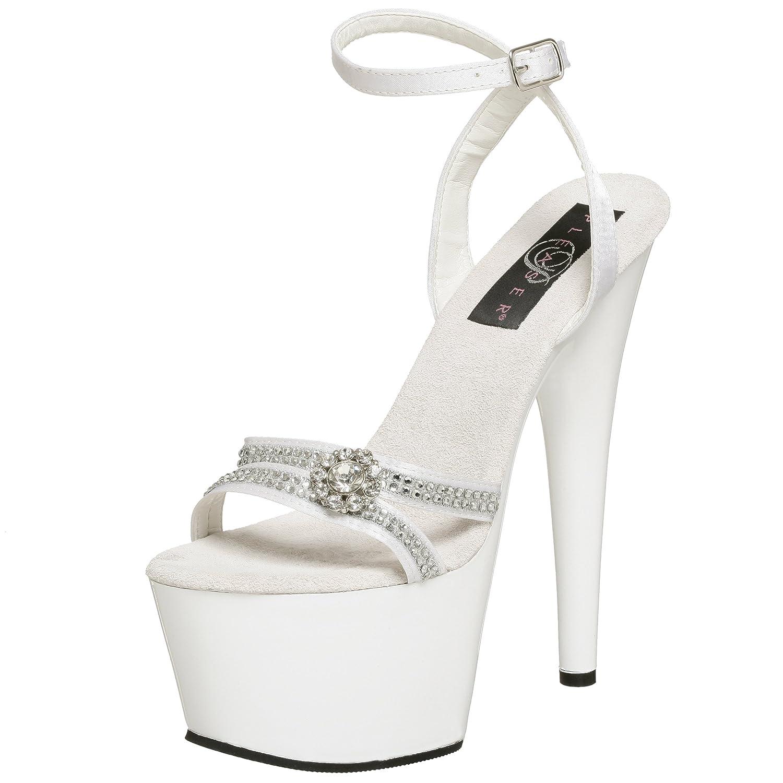 Pleaser Women's Adore-738 Sandal B00126KHT0 8 B(M) US|White