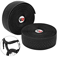 ICOCOPRO Bike Handlebar Tape EVA (Set of 2) Cycling Handle Wraps with Bar End Plugs & Self-Adhesive Strips Anti-Slip Easy to Install - 215cm x 3cm - 3mm Thickness