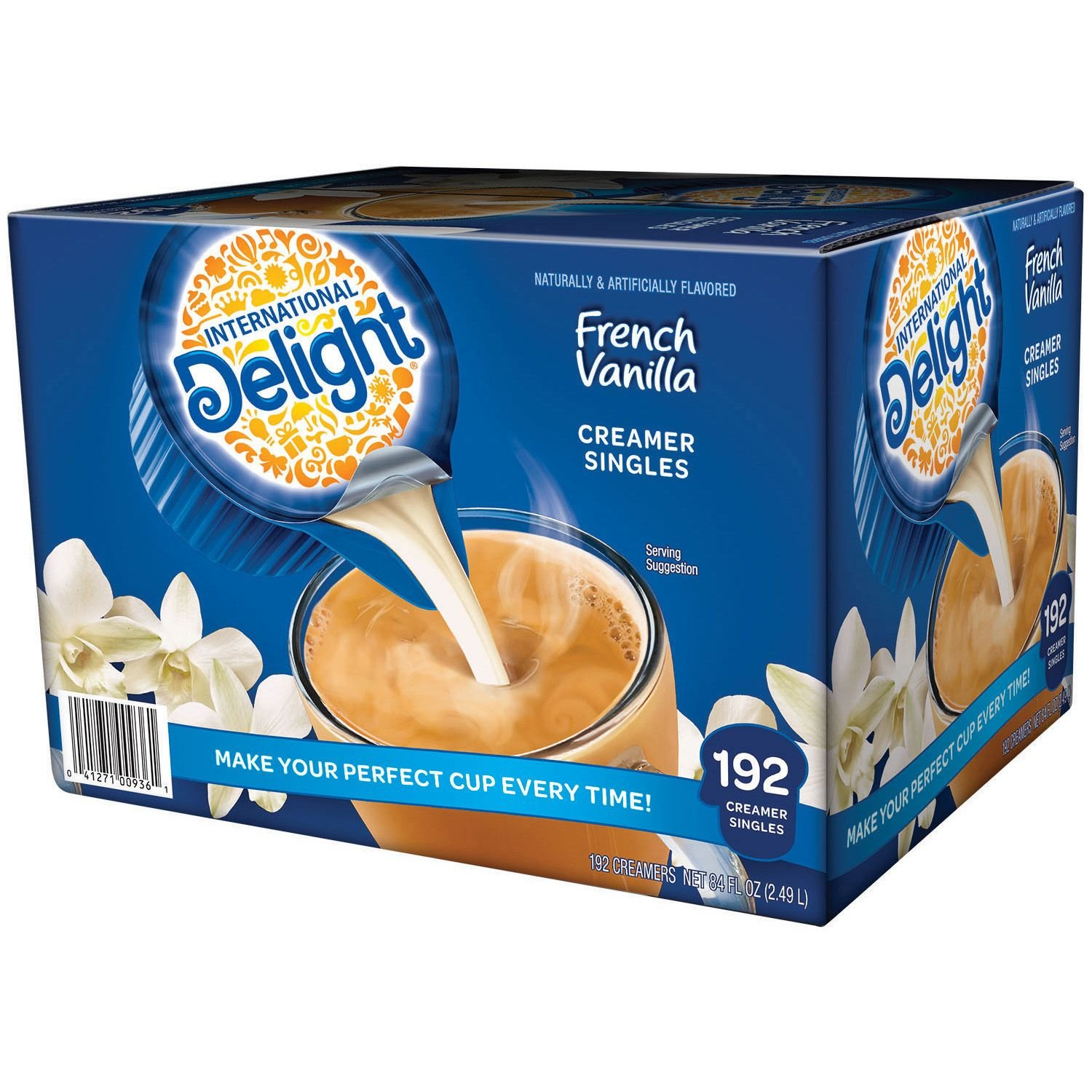 International Delight French Vanilla, 192 Count Single-Serve Coffee Creamers, Special Value 1 Pack