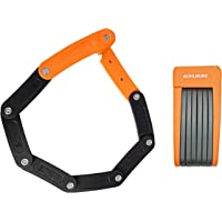Candado plegable para bicicleta y E-Bike extra ligero y pequeño de Kohlburg con soporte, de 70 cm, flexible y seguro