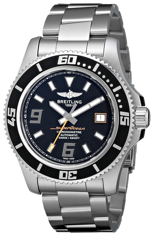 Breitling Men 's a1739102 /ba80 Superocean 44ブラックダイヤル時計 B006WYEB30