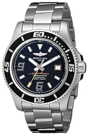 Breitling Mens A1739102/BA80 Superocean 44 Black Dial Watch
