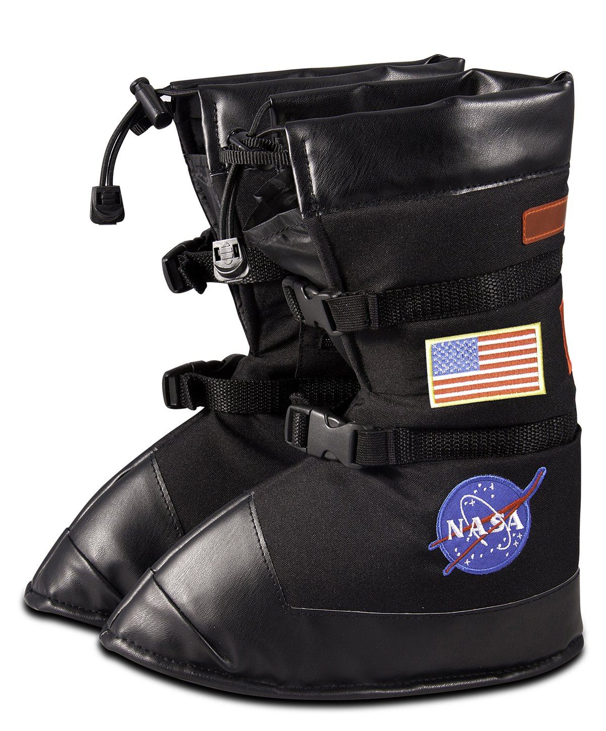 Aeromax Astronaut Boots, size Large, Black, with NASA patches