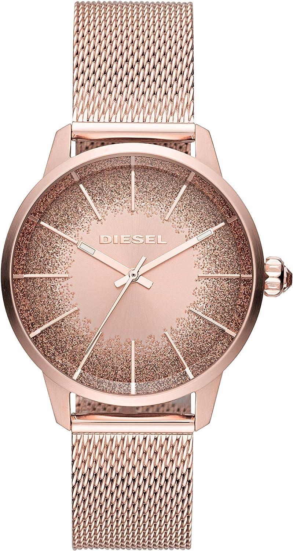 Diesel Reloj Analógico para Mujer de Cuarzo con Correa en Acero Inoxidable DZ5592