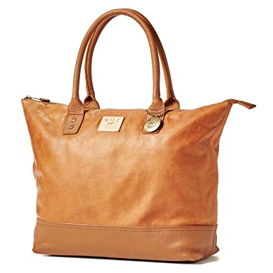 Amazon.com   Will Leather Goods Totes Bag Collection Tan Leather ... ffb9130a3f