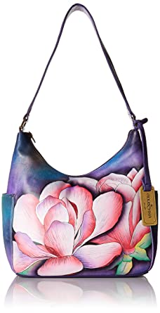 Anuschka Hand Painted Designer Leather Handbag-Christmas gifts for women-  Hobo with side pockets bdd42dced576e