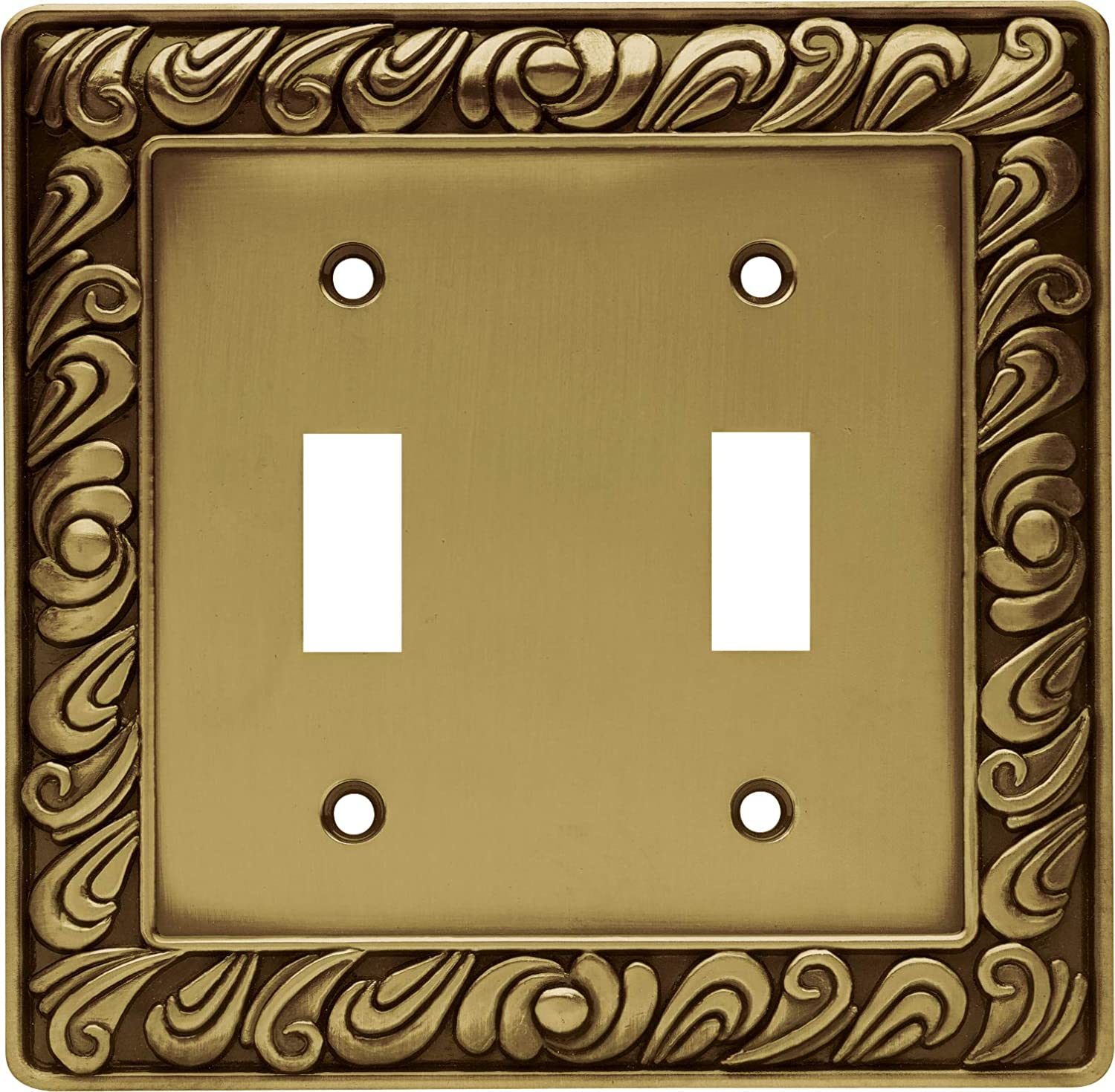 Franklin Brass 64040 Paisley Double Toggle Switch Wall Plate Switch Plate Cover Tumbled Antique Brass Amazon Com