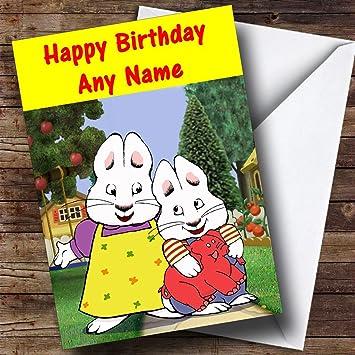 Personalised Max Ruby Birthday Card
