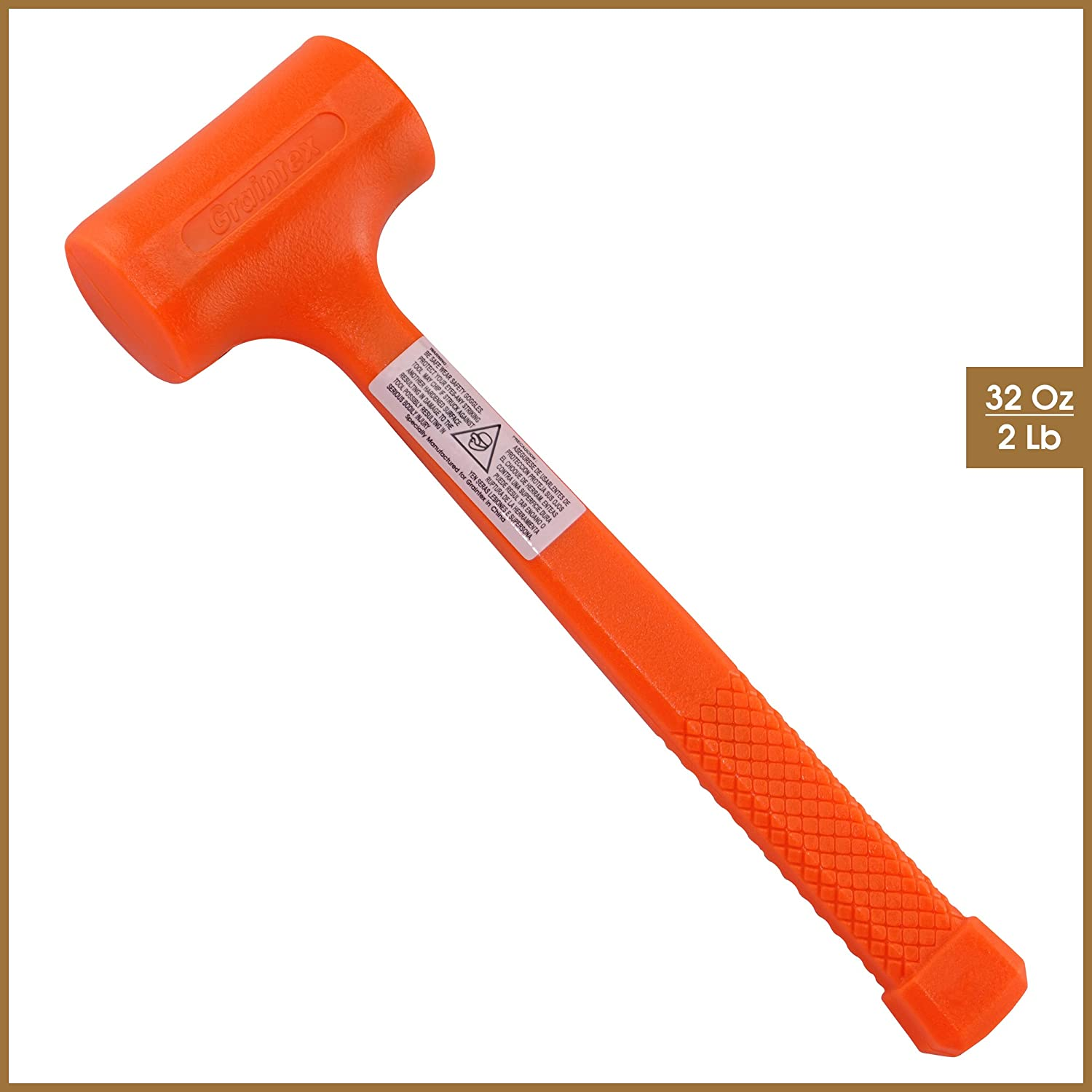 Graintex Db1456 2 0 Lb Dead Blow Mallet Amazon Com Handle is reinforced with solid steel shaft for greater strength and safety. graintex db1456 2 0 lb dead blow mallet