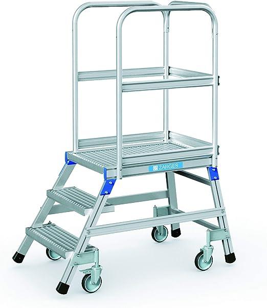 Zarges podio escalera, móvil, en una sola dirección Z600 41951: Amazon.es: Hogar