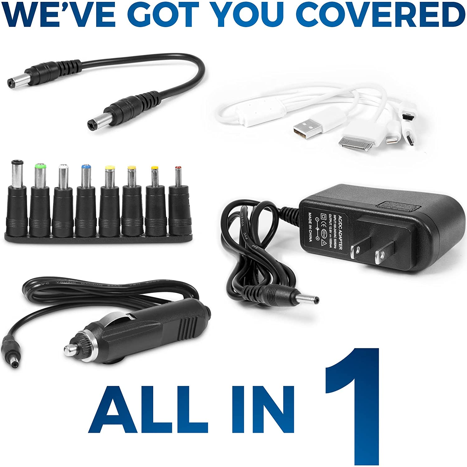 Battery Jumper Charger Pack with Cables Jump Start any Car or Automotive Vehicles.Portable Starter 12V 18000 mAh Power Box 800 A Peak for Auto and Motorcycle Jumpstart.Batteries Emergency Booster Kit