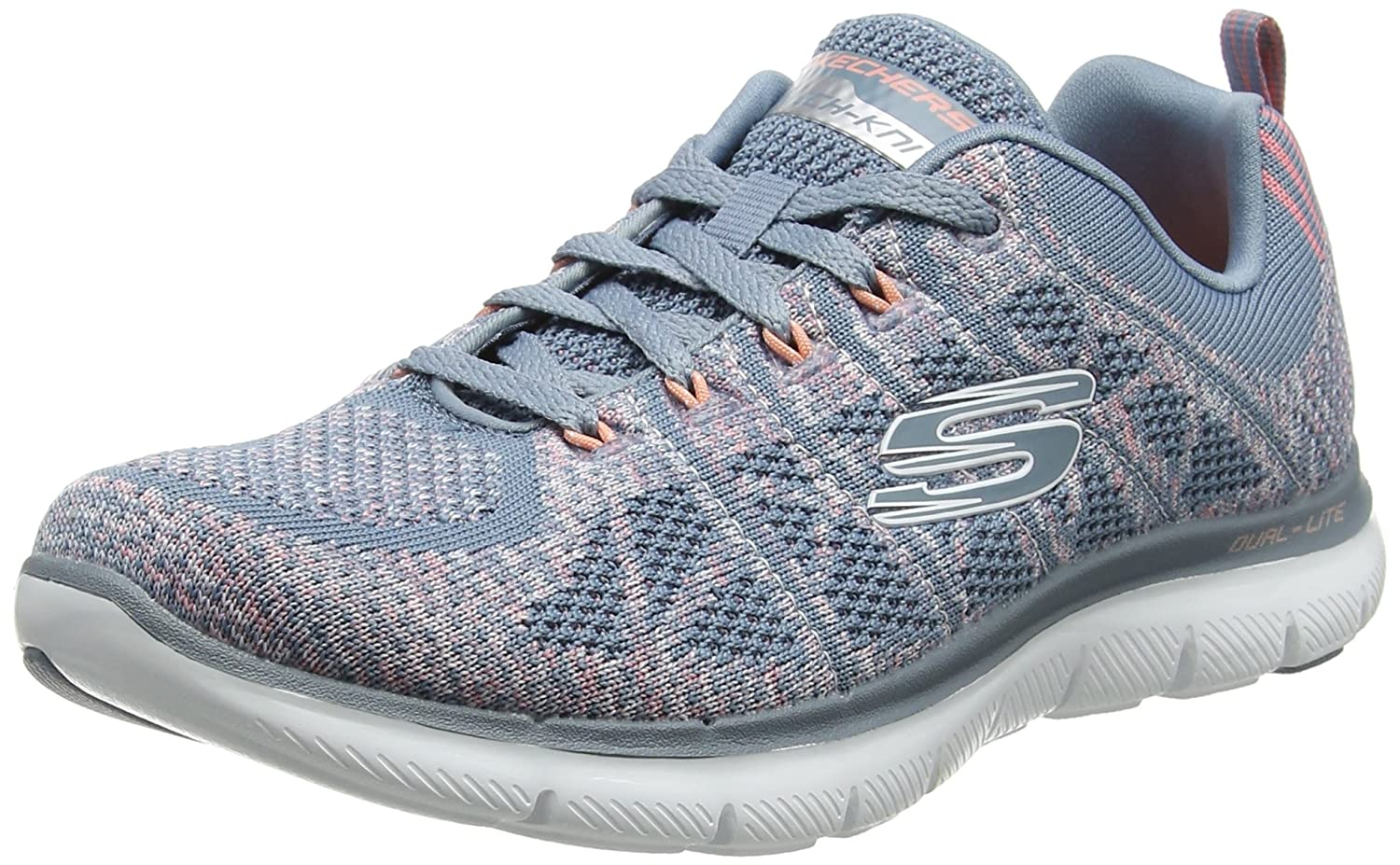 Skechers Women's Flex Appeal 2.0-New Gem Sneaker B078JKSS2Q 5.5 B(M) US|Slate