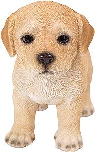 Pacific Giftware Realist Look Labrador Puppy Standing Resin Figurine Statue