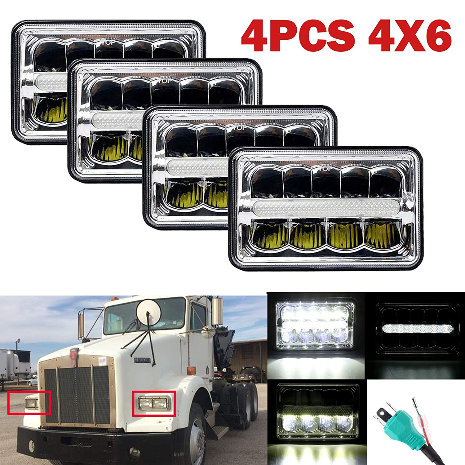 Agricultural Vehicle Parts Pair Of Grey Tractor Headlights Headlamps Outside Grille Fit
