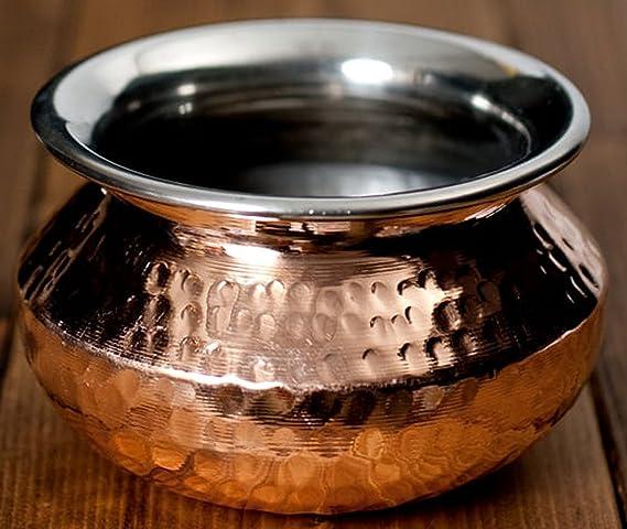 Tazón de 700 ml de acero inoxidable de cobre utilizado como tazón de helado, bol de cereal, tazón de arroz, tazón de pasta, tazón de fuente de postre, ...