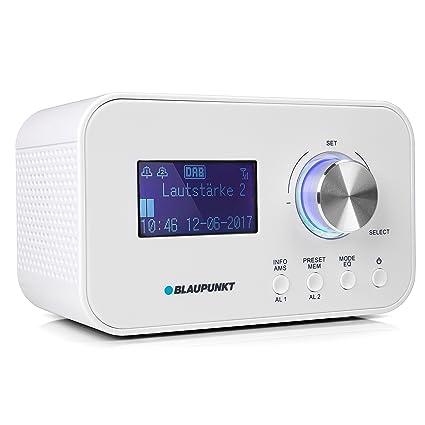 Blaupunkt CLRD 30 WH - Radio (Portátil, Analógico y Digital, Dab+,VHF, 6 W, LCD, Blanco)