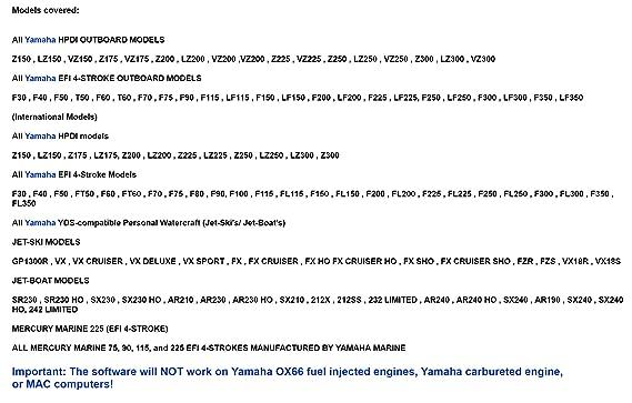 Capital_auto Yamaha Boat Marine Diagnostic USB Cable Kit for