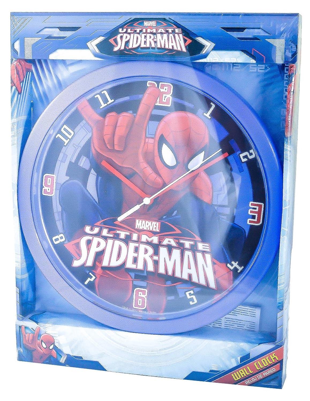 Marvel Quot Ultimate Spiderman Quot Wall Clock Kids Plastic D