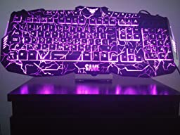 Gaming Keyboard And Mouse Set Mftek Usb Wired Led 3 Color