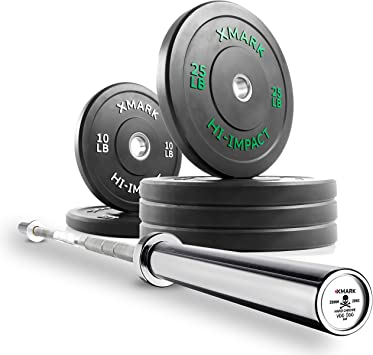 VOODOO Bar XMark Fitness Commercial 7' Olympic Weight Bar 28MM Grip 1500 lb