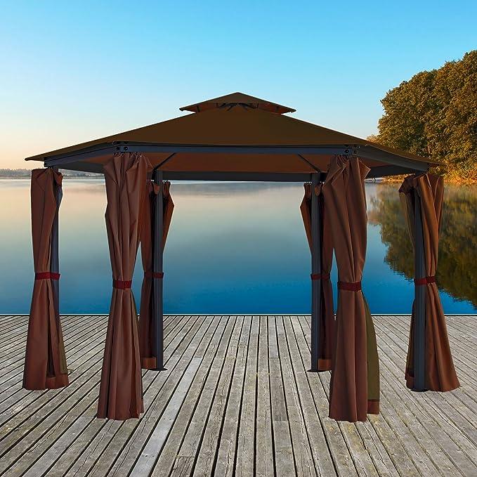 Carpa con Estructura metálica – Cenador 270 x 270 x 275 cm: Amazon ...